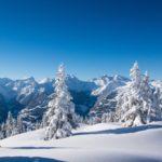 góry zimą - obraz ze zdjęcia